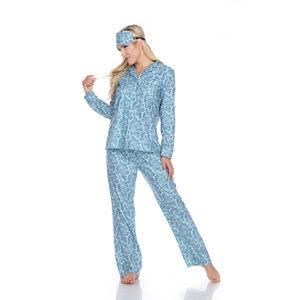 05-Mint Paisley Three-Piece Pajama Set 3610-05
